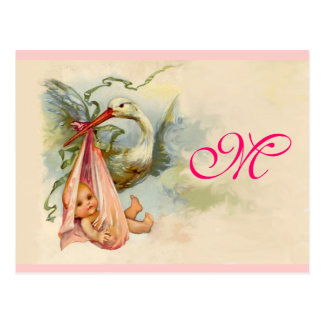STORK BABY GIRL SHOWER 2 POSTCARD