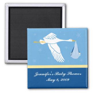 Stork Baby Shower Magnet - Blue