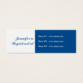 Stork Baby Shower Small Registry Card - Blue