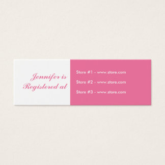 Stork Baby Shower Small Registry Card - Pink