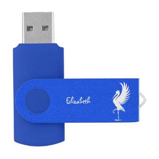 Stork Bird Silhouette USB Flash USB Flash Drive