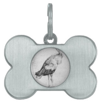 Stork by Albrecht Durer Pet Name Tag