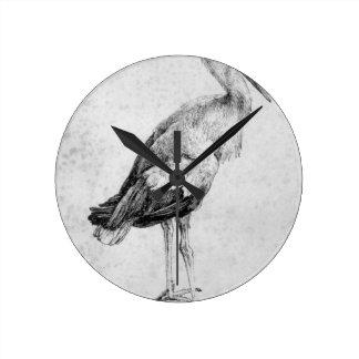 Stork by Albrecht Durer Wallclock