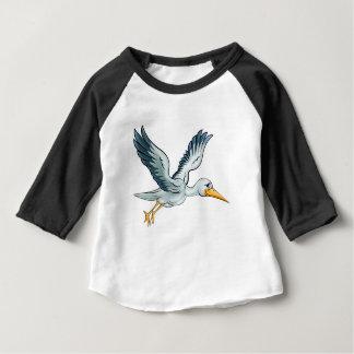 Stork Cartoon Bird Baby T-Shirt