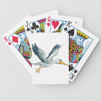 Stork Cartoon Bird Bicycle Playing Cards
