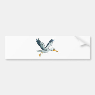 Stork Cartoon Bird Bumper Sticker