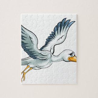 Stork Cartoon Bird Jigsaw Puzzle