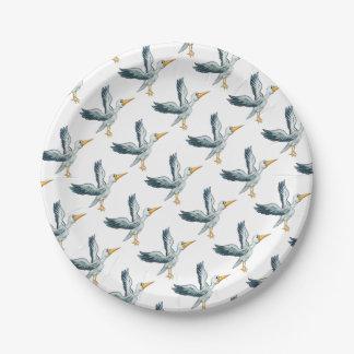 Stork Cartoon Bird Paper Plate