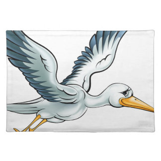 Stork Cartoon Bird Placemat
