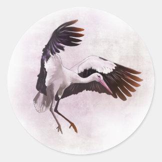 Stork Classic Round Sticker