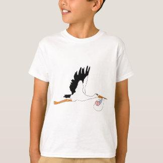 Stork delivering Baby T-Shirt