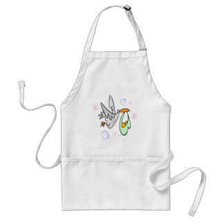 Stork Delivers Baby Apron