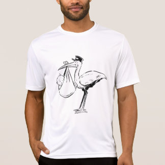 Stork Holding A Baby Mens Active Tee