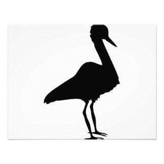 stork icon invitation