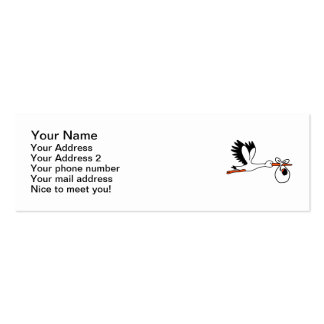 Stork new baby pack of skinny business cards