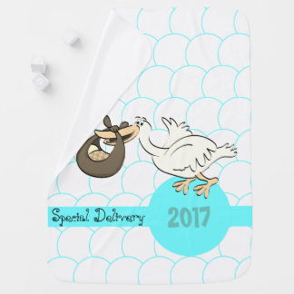 Stork Special Delivery Baby Blanket