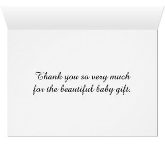 Stork Thank You Cards Baby Shower