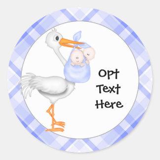 Stork & Twin Boys Stickers