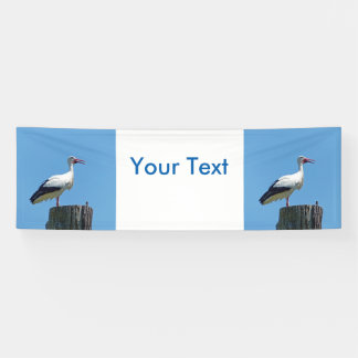 Stork with blue sky (Storch) Banner