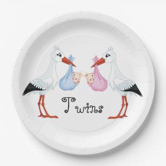 Storks Paper Plate