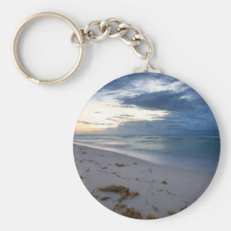 Storm Approaching Miami Beach Basic Round Button Keychain