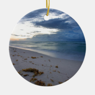 Storm Approaching Miami Beach Ceramic Ornament