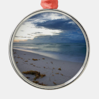 Storm Approaching Miami Beach Metal Ornament