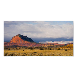 Storm Brewing Red Rock Grand Staircase-Escalante Poster