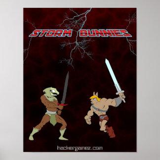 Storm Bunnies Poster