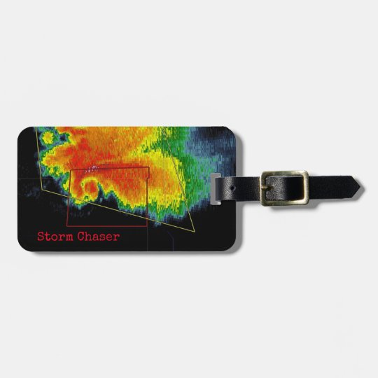 Storm Chaser Hook Echo Radar Image Luggage Tag