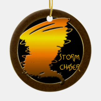 Storm Chaser Round Ceramic Ornament