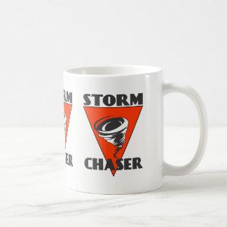 Storm Chaser Tornado and Red Triangle Coffee Mug
