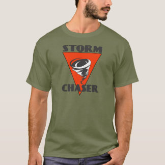 Storm Chaser Tornado and Red Triangle T-Shirt