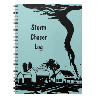 Storm Chaser Tornado Twister Weather Meteorology Spiral Notebook