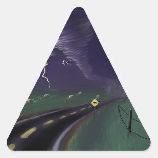 Storm Chasin' Triangle Sticker