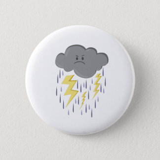 Storm Cloud 2 Inch Round Button