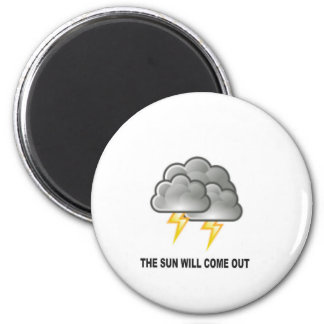storm cloud fun 2 inch round magnet