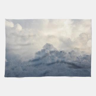 Storm Cloud Heavenly White Clouds In Sky Towel