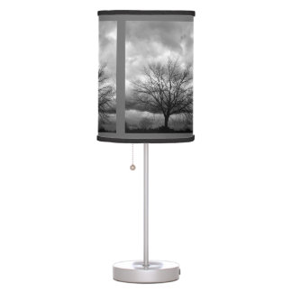 Storm Clouds Bare Tree - Lampshade Table Lamp