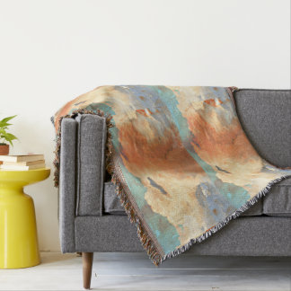 Storm Clouds in Pastel Throw Blanket