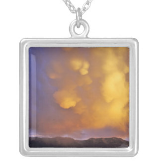Storm Clouds in the Centennial Range in Montana Silver Plated Necklace