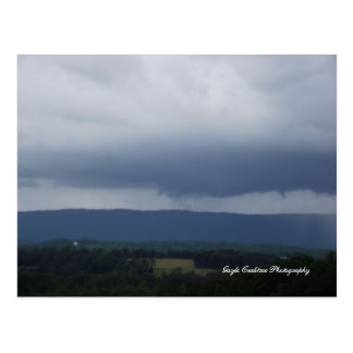 Storm clouds over Etowah, Tennessee Postcard