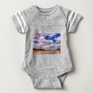 Storm Clouds over Monument Valley, UT Baby Bodysuit