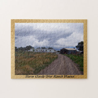 Storm Clouds Over Ranch Houses Jigsaw Puzzle