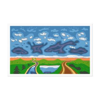 """""""Storm Clouds"""" Roberto Regan Art Canvas Print"""