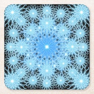 Storm Flake Mandala Square Paper Coaster