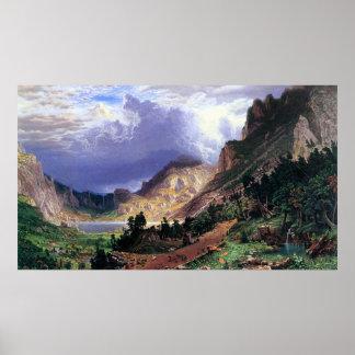 Storm in the Rockies, Mt. Rosalie by Bierstadt Poster