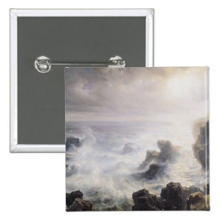 Storm off the Coast of Belle-Ile 2 Inch Square Button
