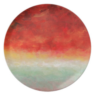 Storm on the Horizon by Fine Artist Alison Galvan Dinner Plate