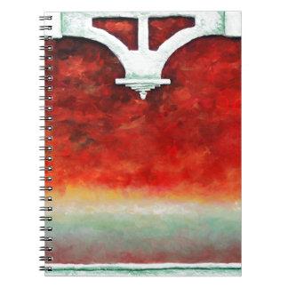 Storm on the Horizon by Fine Artist Alison Galvan Spiral Notebook